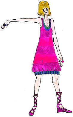 3b5a05f646ce Sommarkollektion, randiga bomullskläder Ballongklänning ...